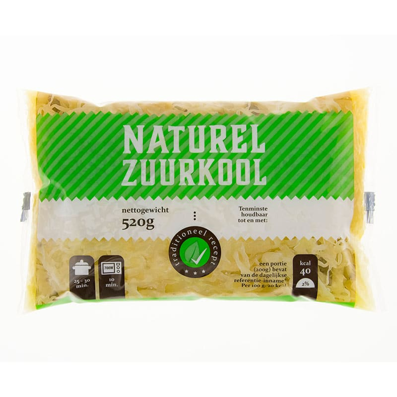 kapusta kiszona naturalna Zuurkool naturel kwadrat